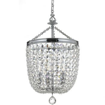 """Crystorama Archer 5-Light 24"""" Traditional Chandelier in Polished Chrome with Clear Spectra Crystals"""