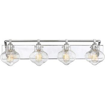 "Savoy House Allman 36"" 3-Light Bathroom Vanity Light in Polished Chrome"