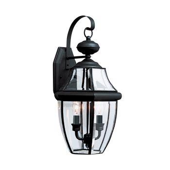 Sea Gull Lighting Lancaster 2-Light Outdoor Wall Lantern in Black
