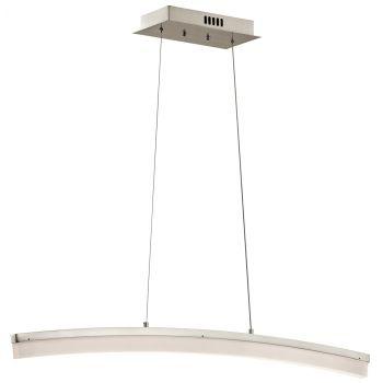 "Elan Valencia 39.5"" LED Linear Pendant in Brushed Nickel"