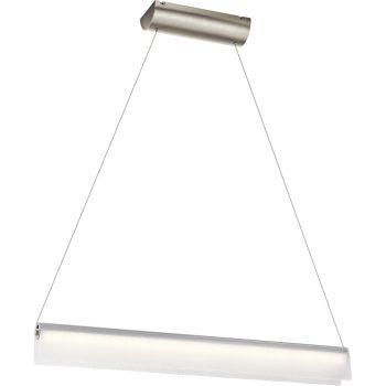 "Elan Rainfall 36"" LED Bent Glass Linear Pendant in Brushed Nickel"