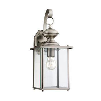 Sea Gull Lighting Jamestowne 1-Light Outdoor Wall Lantern in Antique Brushed Nickel
