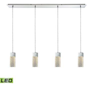 """ELK Cubic Ice 46"""" Pendant Light in Polished Chrome"""