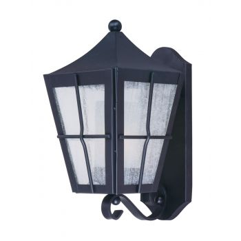"""Maxim Lighting Revere 14.5"""" Outdoor Seedy/Frosted Wall Mount in Black"""