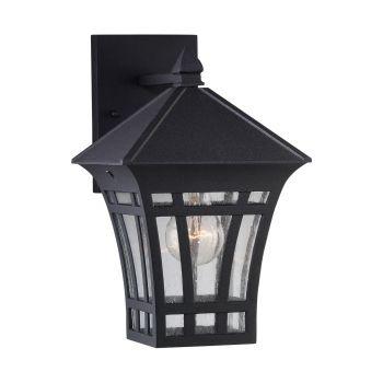 Sea Gull Lighting Herrington 1-Light Outdoor Wall Lantern in Black