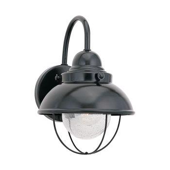 """Sea Gull Sebring 11"""" Outdoor Wall Light in Black"""