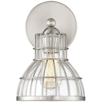 """Savoy House Grant 11"""" Wall Sconce in Satin Nickel"""