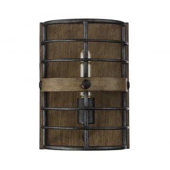 "Savoy House Oakhill 11.5"" Wall Sconce in Provincial Wood/Ebony"