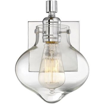 """Savoy House Allman 8.75"""" Wall Sconce in Polished Chrome"""