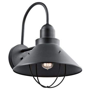 Kichler Seaside Extra-Large Outdoor Wall Light in Black