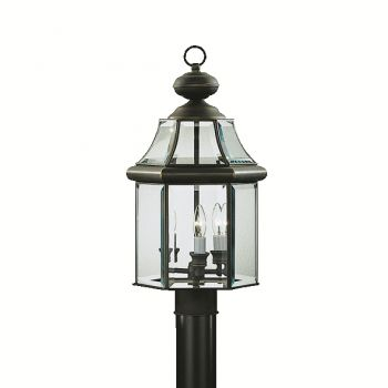 Kichler Embassy Row 3-Light Outdoor Post Lantern in Olde Bronze