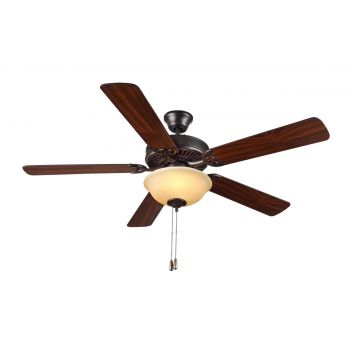 "Monte Carlo 52"" HomeBuilder II Ceiling Fan in Bronze"