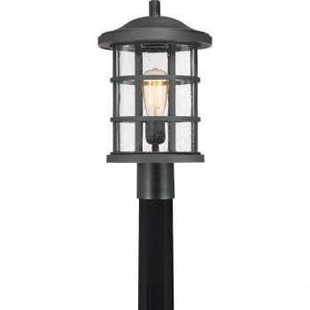 "Quoizel Crusade 10"" Outdoor Post Light in Earth Black"