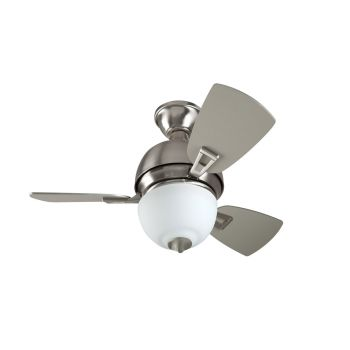 "Craftmade 30"" Dane Ceiling Fan in Stainless Steel"