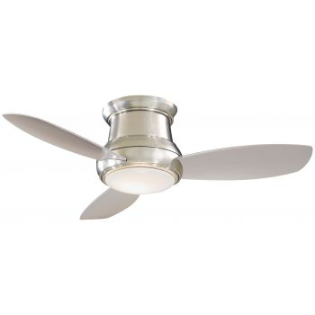 """Minka-Aire Concept II 44"""" LED Flush Mount Ceiling Fan in Brushed Nickel"""