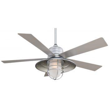 """Minka-Aire Rainman 54"""" Indoor/Outdoor Ceiling Fan in Galvanized"""