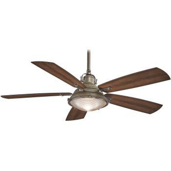 "Minka-Aire Groton 56"" Indoor/Outdoor Ceiling Fan in Weathered Aluminum"