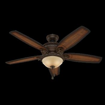 """Hunter Prestige Claymore 54"""" Indoor Ceiling Fan in Bronze/Brown"""