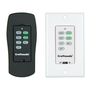 Craftmade CXL ICS Wall & Remote Control System in White