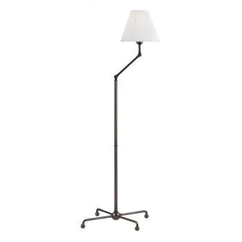 """Hudson Valley Classic No.1 by Mark D. Sikes 59.5"""" Adjustable Floor Lamp in Distressed Bronze"""