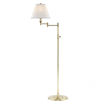 """Hudson Valley Signature No.1 by Mark D. Sikes 57"""" Floor Lamp in Aged Brass"""