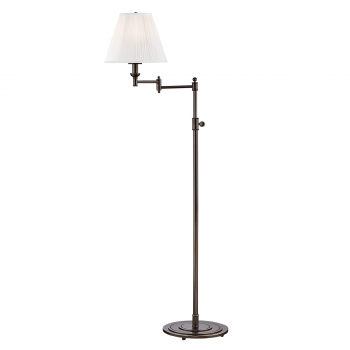 """Hudson Valley Signature No.1 by Mark D. Sikes 57"""" Floor Lamp in Distressed Bronze"""