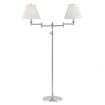 """Hudson Valley Signature No.1 by Mark D. Sikes 57"""" Floor Lamp in Polished Nickel"""