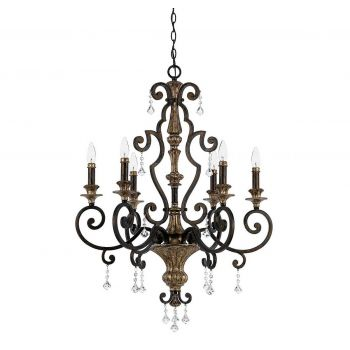 Quoizel Marquette 6-Light French Country Chandelier in Bronze