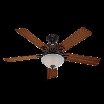 """Hunter Astoria 2-Light 52"""" Indoor Ceiling Fan in New Bronze"""