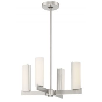 "George Kovacs Tube 4-Light 18"" Ceiling Light in Brushed Nickel"