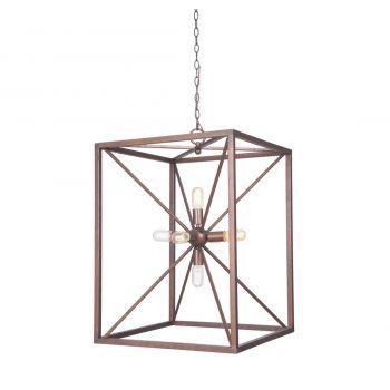 """Craftmade 6-Light 17"""" Pendant Light in Peruvian Bronze"""