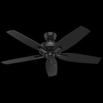 """Hunter Newsome 52"""" Ceiling Fan in Black"""