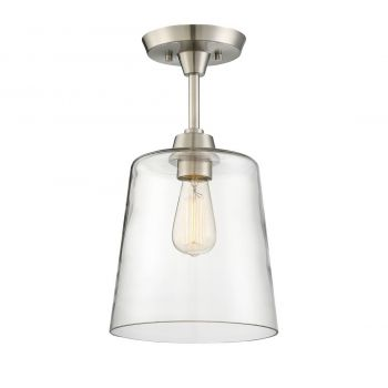 Trade Winds Simple Ceiling Light in Brushed Nickel
