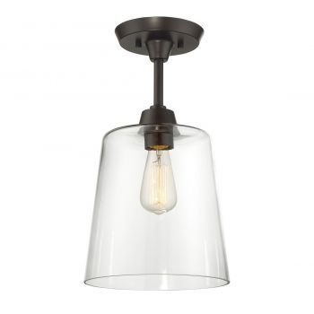 Trade Winds Lighting Simple 1-Light Ceiling Light in Oil Rubbed Bronze
