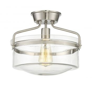 Trade Winds Bands Semi Flush Ceiling Light in Brushed Nickel