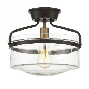 Trade Winds Bands Semi Flush Ceiling Light in Oil Rubbed Bronze