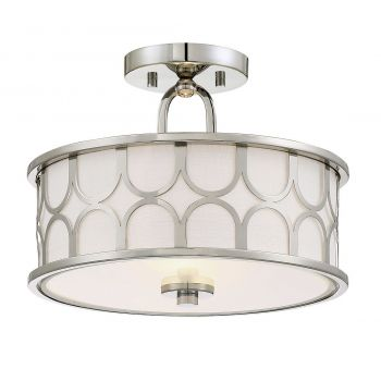 "Trade Winds Transitional 2-Light 13"" Ceiling Light in Natural Brass"