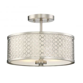 Trade Winds Lighting Lattice Ceiling Light in Brushed Nickel
