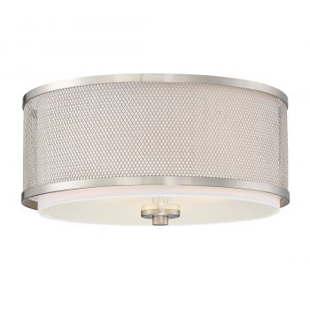 Trade Winds Lighting Mesh 3-Light Ceiling Light in Brushed Nickel