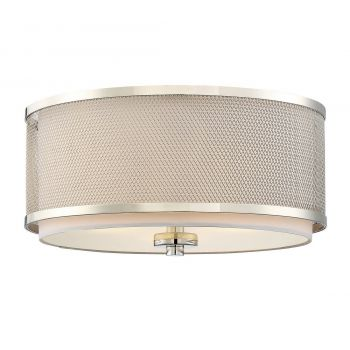 Trade Winds Lighting Mesh 3-Light Ceiling Light in Polished Nickel
