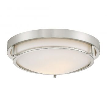 Trade Winds Slim Round Flush Mount Ceiling Light in Brushed Nickel