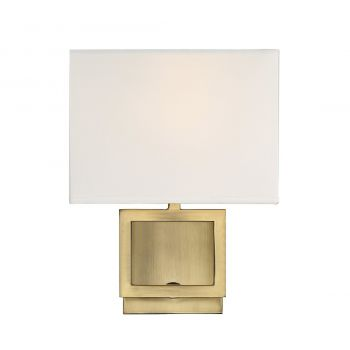 """Trade Winds Farmhouse 10"""" Wall Sconce in Natural Brass"""