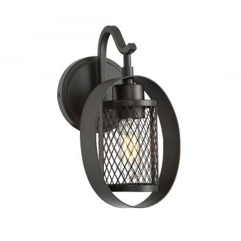 Trade Winds Ring Mesh Wall Sconce in Oil Rubbed Bronze