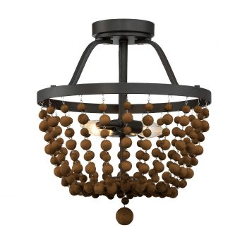 Trade Winds Beads 2-Light Ceiling Light in Oil Rubbed Bronze