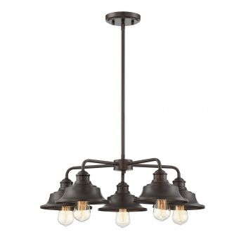 Trade Winds Vintage 5-Light Chandelier in Oil Rubbed Bronze