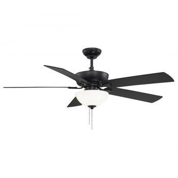 """Trade Winds Lighting Berkeley Lake 52"""" Ceiling Fan in Black"""