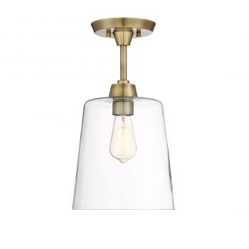 Trade Winds Lighting Simple Ceiling Light in Natural Brass