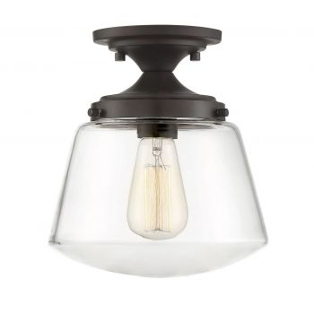 Trade Winds Lighting Schoolhouse Ceiling Light in Oil Rubbed Bronze