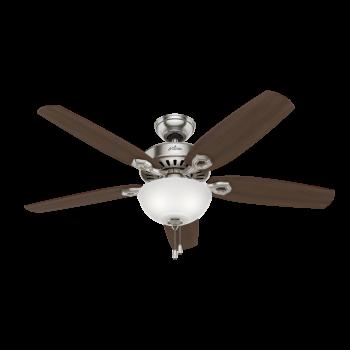 "Hunter Builder Deluxe 52"" Ceiling Fan in Brushed Nickel"