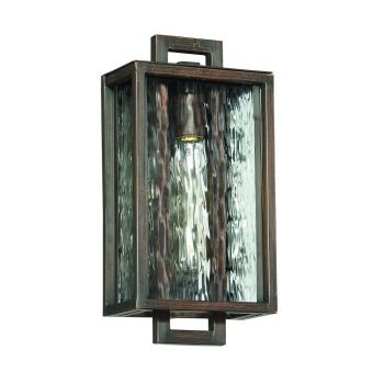 """Craftmade Cubic 14.13"""" Pocket Wall Sconce in Aged Bronze Brushed"""